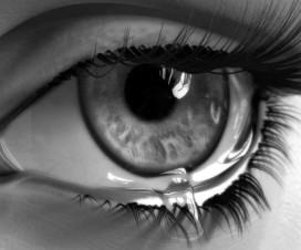 ojo lloroso, lágrima