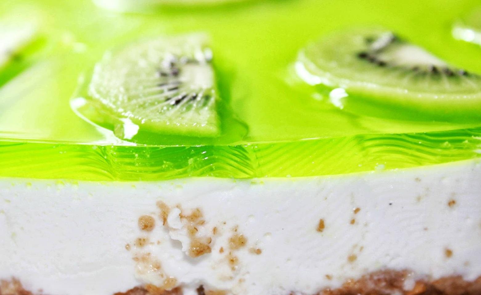 tarta queso y kiwi